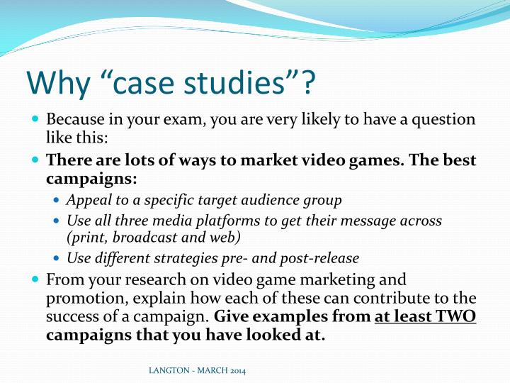 marketing exam case studies The resultant international presence of coca cola is a direct outgrowth of the marriage of the advertising, direct marketing, as well as web based interactive and social media marketing and sales.