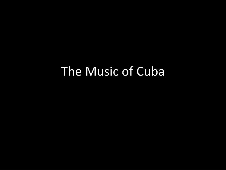 the music of cuba n.