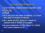 calculating empirical