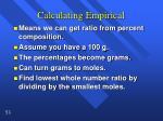 calculating empirical1