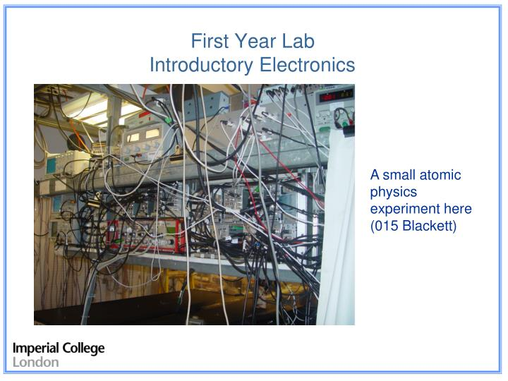 first year lab introductory electronics n.