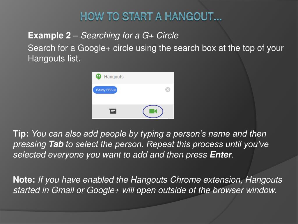 PPT - Use G+ and Hangouts for IStudyEBS PowerPoint Presentation - ID