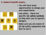 6 student scientific inquiry