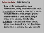collect the data data gathering