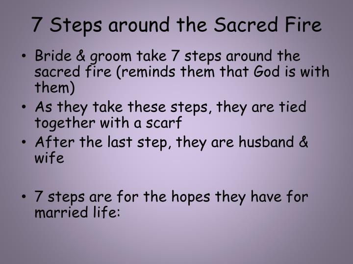 7 Steps around the Sacred Fire