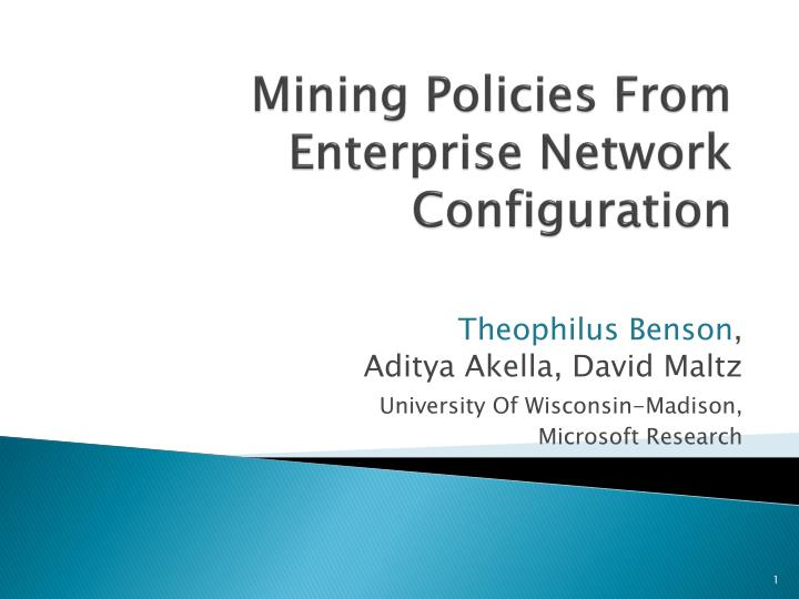 mining policies from enterprise network configuration n.