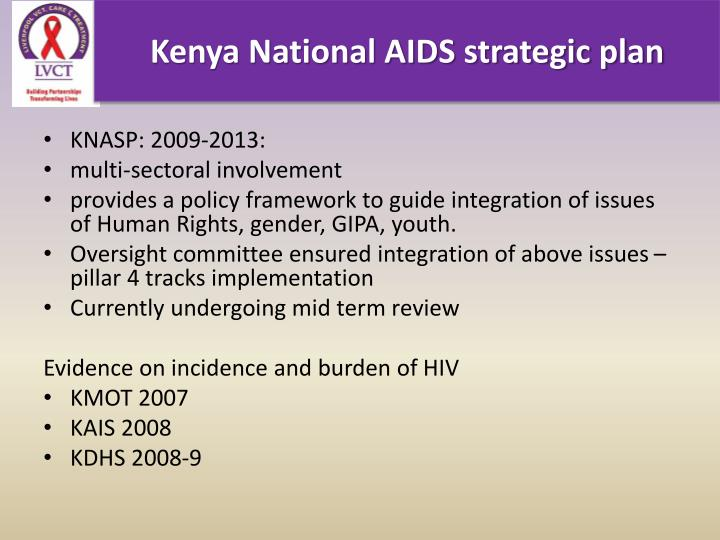 Kenya National AIDS strategic plan