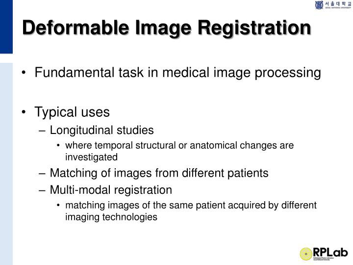 Deformable Image Registration