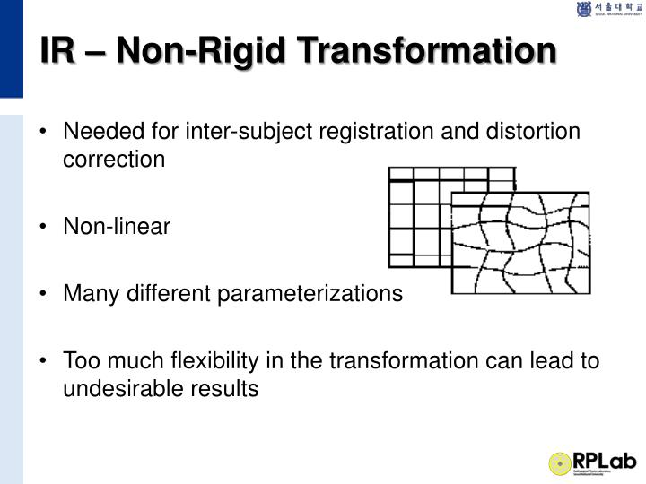 IR – Non-Rigid Transformation