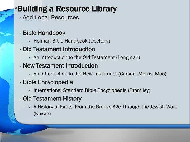 Building a Resource Library