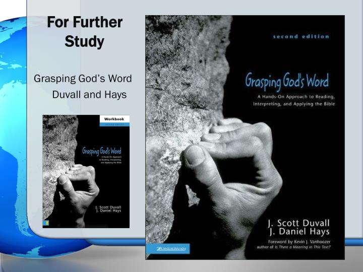 For Further Study
