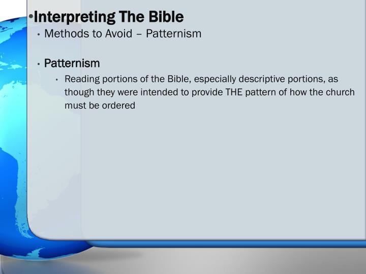 Interpreting The Bible