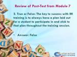 review of post test from module 71