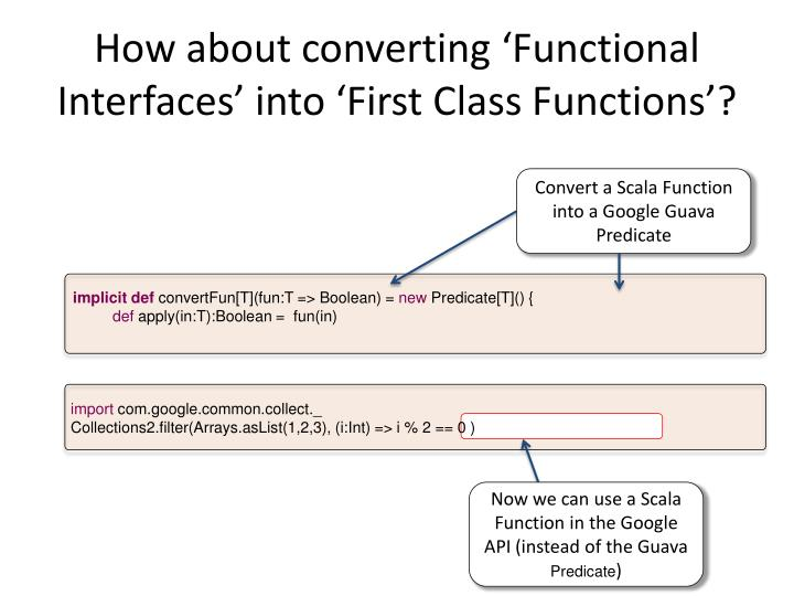 How about converting 'Functional