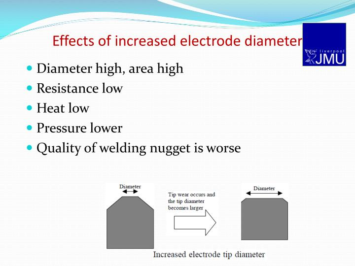 Effects of increased electrode diameter