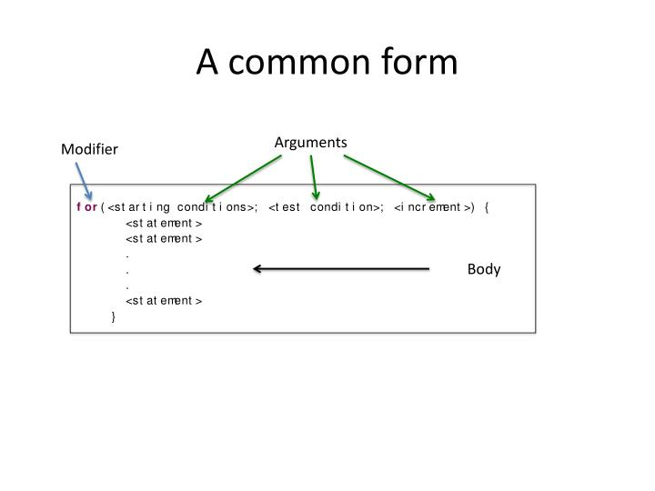A common form