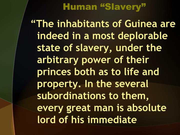 Human slavery
