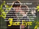 prompt relation to novel