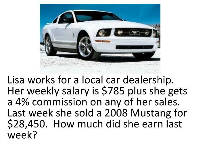 Car Dealership Sales Salary Plus Commission