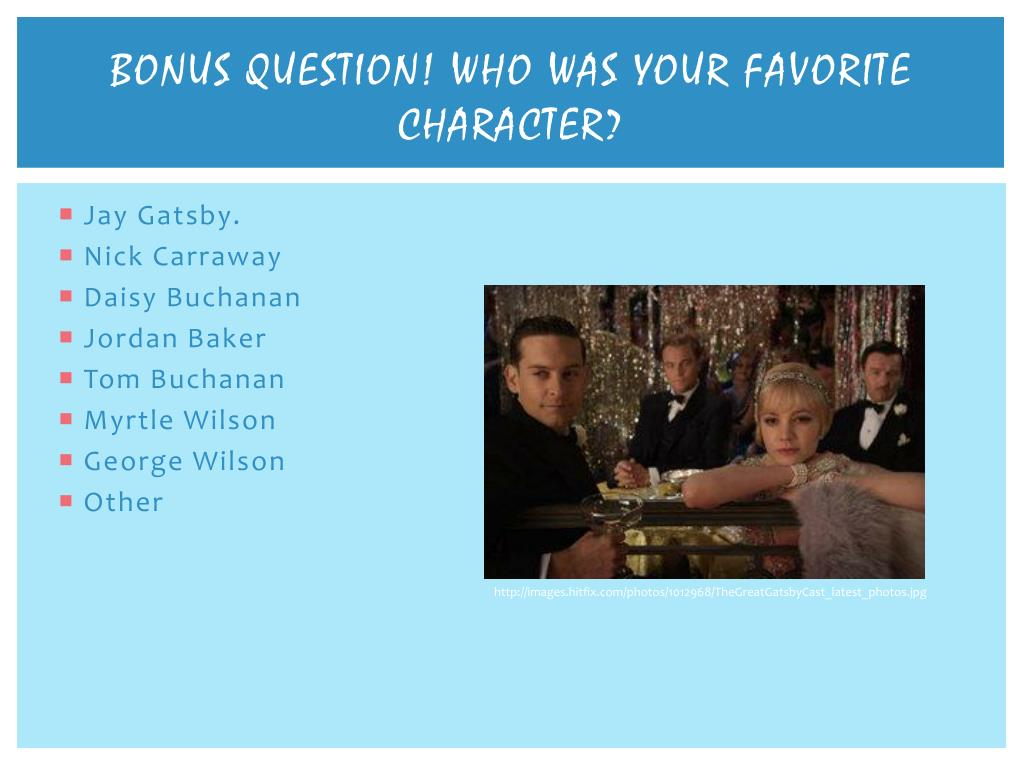 PPT - How well do you know the Great Gatsby? PowerPoint