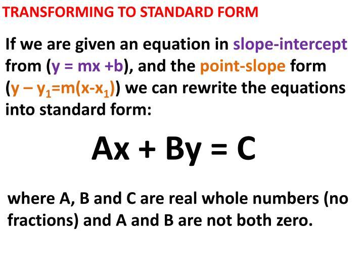 Ppt 55 Standard Form Powerpoint Presentation Id1837519