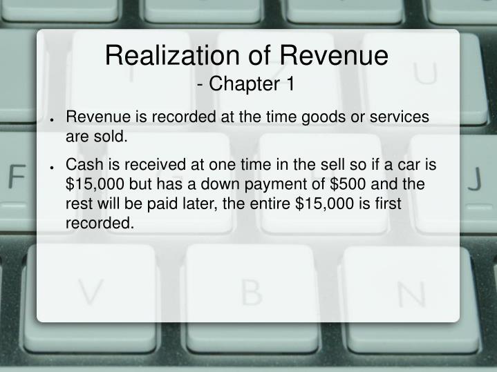 Realization of Revenue