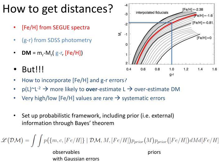 How to get distances?