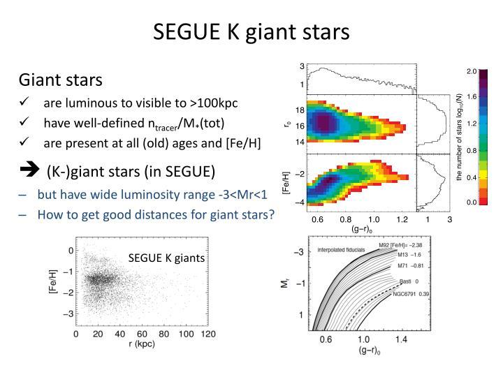 SEGUE K giant stars
