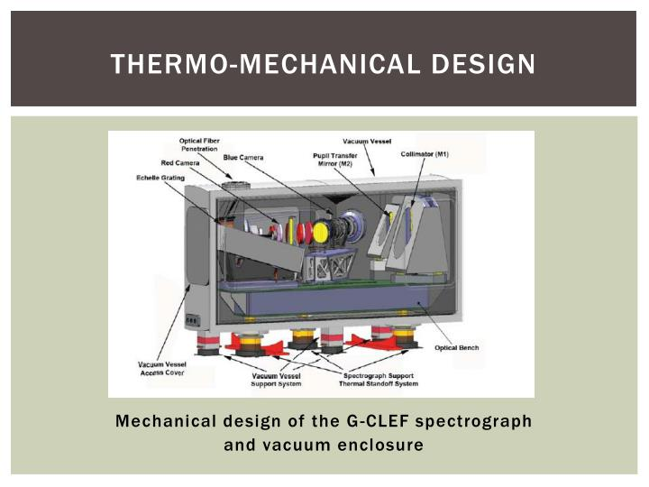 Thermo-Mechanical Design