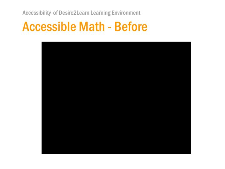 Accessible Math - Before