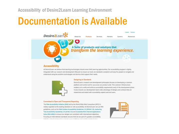 Documentation is Available