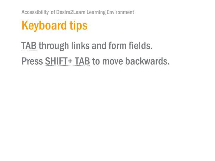Keyboard tips