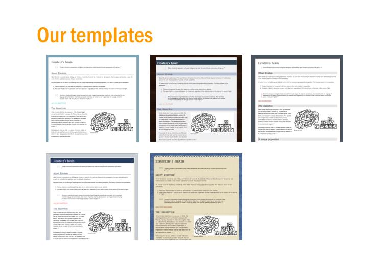 Our templates