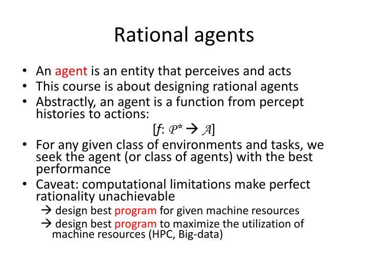Rational agents