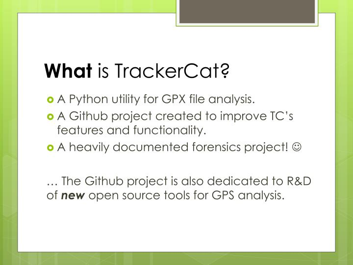What is trackercat