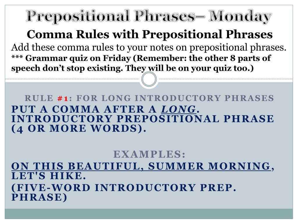 good introductory phrases