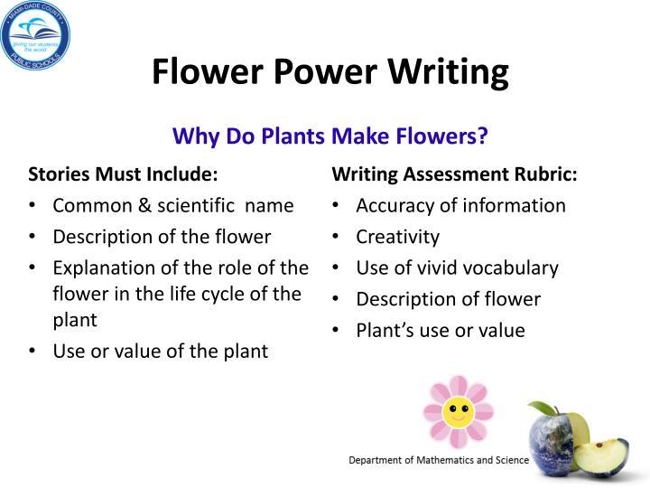 Flower Power Writing