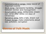genres of folk music
