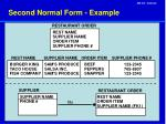 second normal form example