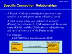 specific connection relationships
