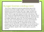 hunger games casting cont