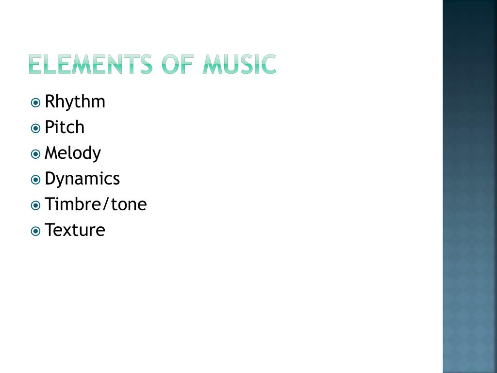 PPT - Elements and Principles of Music PowerPoint