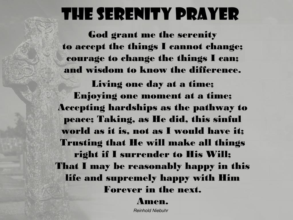Ppt The Serenity Prayer Powerpoint Presentation Free
