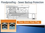 floodproofing sewer backup protection