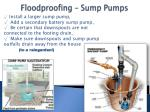floodproofing sump pumps