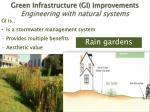 green infrastructure gi improvements engineering with natural systems