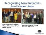 recognizing local initiatives