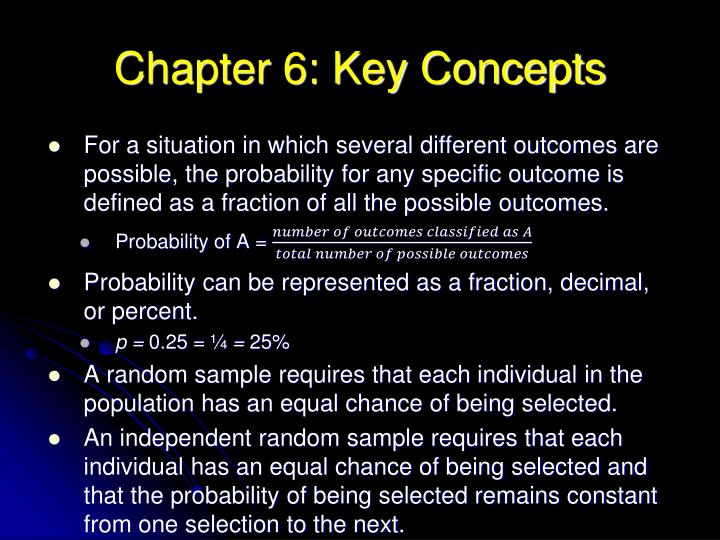 Chapter 6: Key Concepts