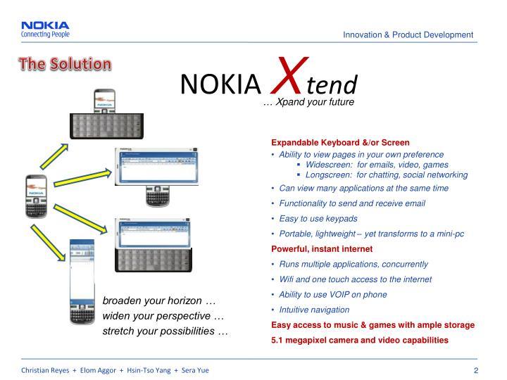 Nokia x tend