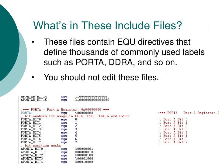 What's in These Include Files?